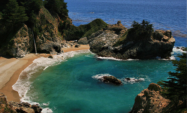 Big Sur Waterfall at McWay Cove
