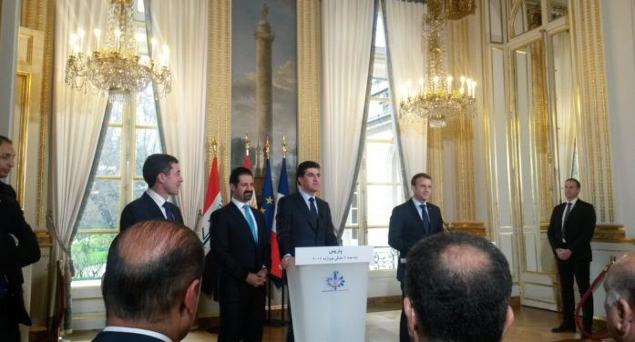 President Macron welcomed Kurdistan´s leaders.